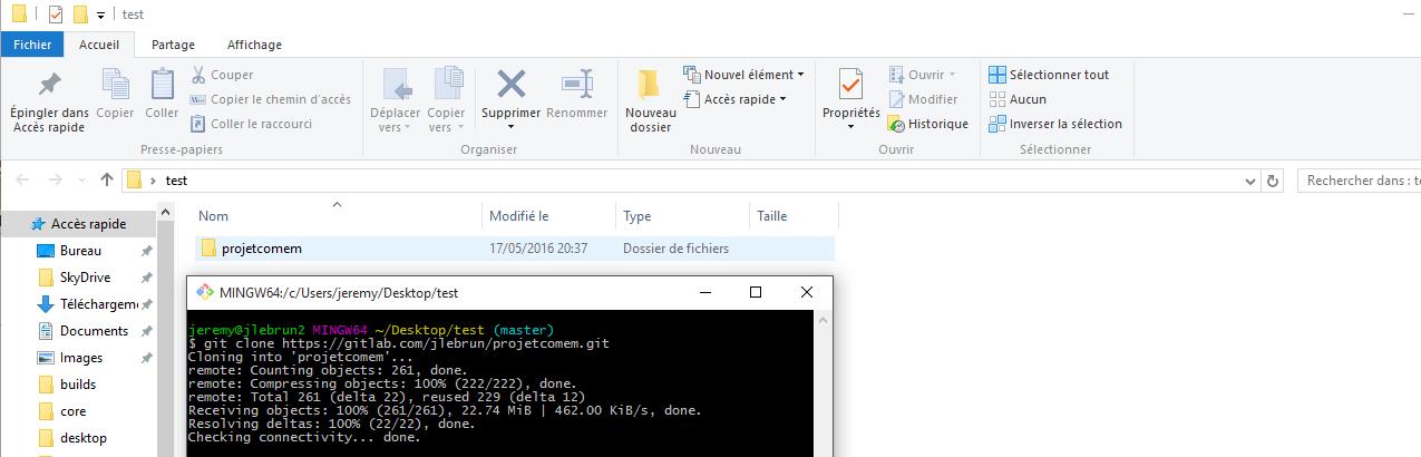 [ProjcomEM] Git et environnement de developpement GitClone